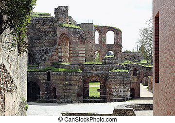 ruins of  Roman baths in Trier  Ger