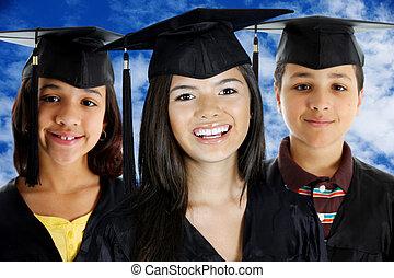 Graduation of a teenage girls and boy