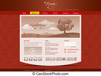 Website template: Vintage