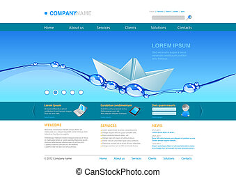 Website template: Origami Boat
