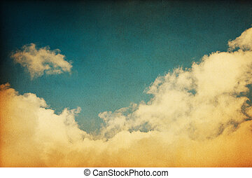 Vintage Clouds - A retro cloudscape with vintage colors and...