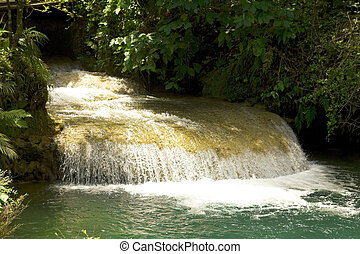 Creek in the Sierra de Escambray. Cienfuegos and Sancti...