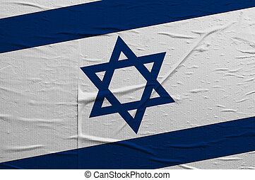 Israel flag - Grunge flag of Israel, image is overlaying a...