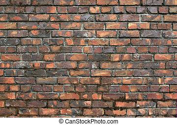 Vintage, Variegated Brick Wall - Very old variegated brick...