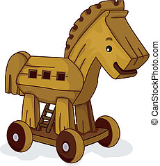 Wooden Horse - Illustration of a Wooden Horse Toy