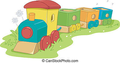 Toy Train - Illustration of a Toy Train
