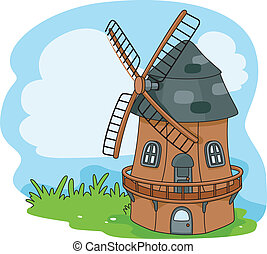 Windmill - Illustration of a Windmill