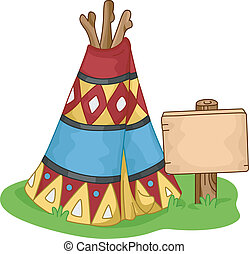 Wigwam - Illustration of a Colorful Wigwam