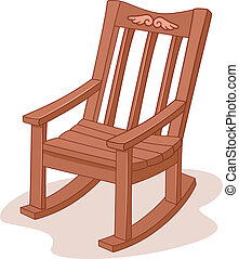 Rocking Chair - Illustration of a Rocking Chair