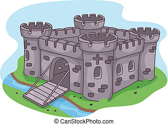 Fortress - Illustration of a Fortified Castle
