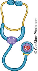 Stethoscope Toy - Illustration of a Stethoscope Toy