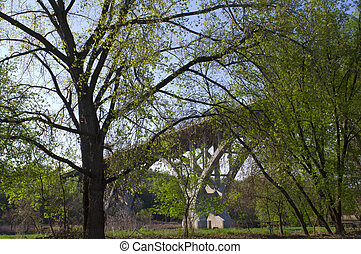 Mendota Bridge Spanning Minnesota River at Fort Snelling...