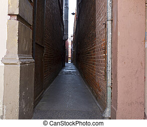 Narrowest Street in North America Chinatown Victoria Canada...