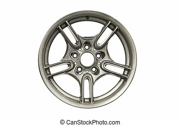 Alloy car rim isolated on white