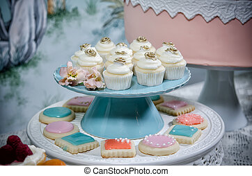 Wedding Cupcakes - Image of beautifully decorated wedding...