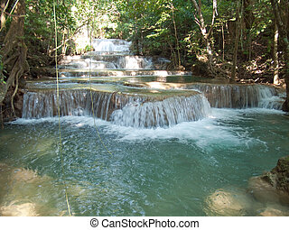 Huay Mae Kamin Waterfall - First level of Huay Mae Kamin...