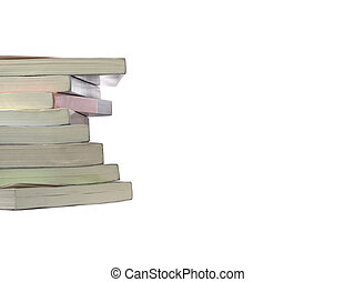 Twisted stack books - Isolated twisted stack of real books...
