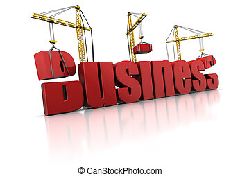 building business - 3d illustration of building business...