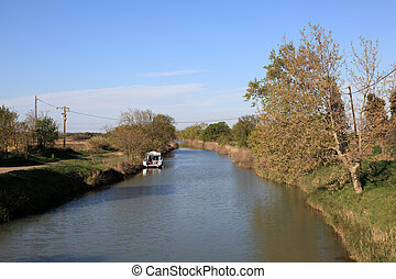 Canal du Midi in Languedoc-Roussillon, France