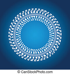 special blue background with tire design