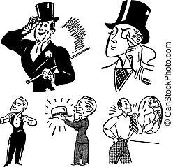 Vector Vintage Gentleman Graphics