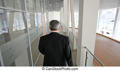 Confident walk - Senior businessman walking confidently...
