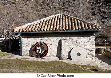 Water mill - Old restored water mill. Picture taken in La...