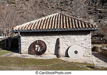 Water mill - Old restored water mill Picture taken in La...