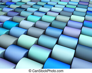 abstract 3d render multiple blue purple cylinder backdrop pattern