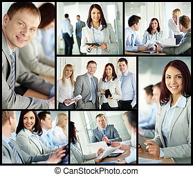 Business experts - Collage of confident business people in...