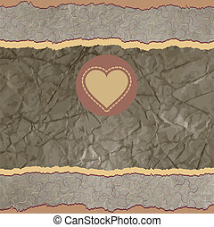 Valentine card with placeholder. EPS 8 - Valentine card with...