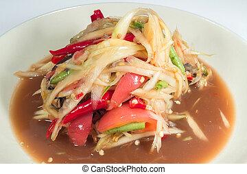 Som Tum, thai papaya salad from Thailand