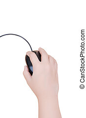 Hand click mouse isolated. - This image for technology...