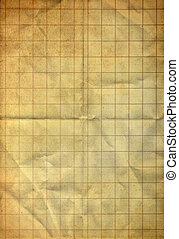 Sheet of graph on old folding grunge paper