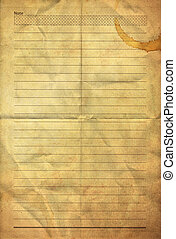 old grunge folding note paper