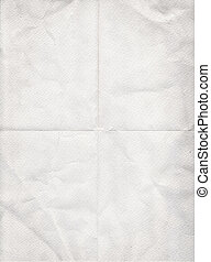 old white paper folded in four background