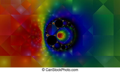 Fractal pattern - The fractal color pattern flickers and...