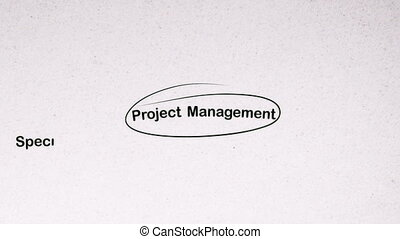 Project Management Brainstorming - Animation of a...