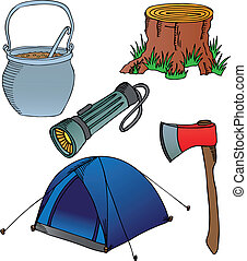 Camping objects collection 2