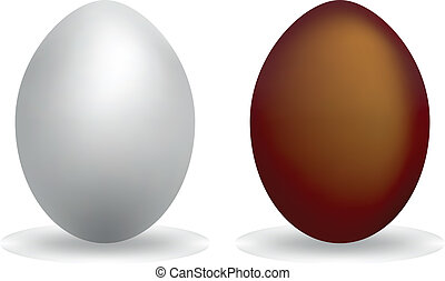 Silver egg and chocolate