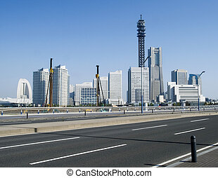 Yokohama skyline by day in japan