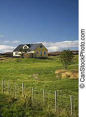 isolated island countryside colourful bright quaint typical...