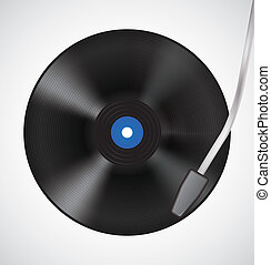 Vintage vinyl disc and needle head - Vintage vinyl disc and...