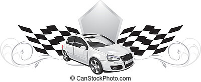 Sport car. Icon for design. Vector illustration