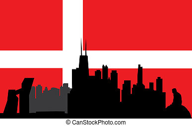 copenhagen and the danish flag