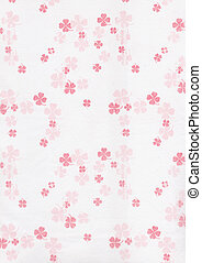 Red Clover leaves on white paper background