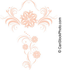 Two decorative floral elements