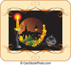 Halloween. Holiday composition
