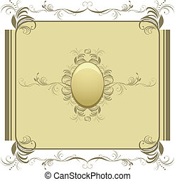 Decorative retro element for design