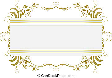 Decorative floral frame. Title. Vector illustration